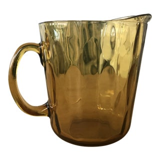 Indiana Glass Amber Glass Pitcher