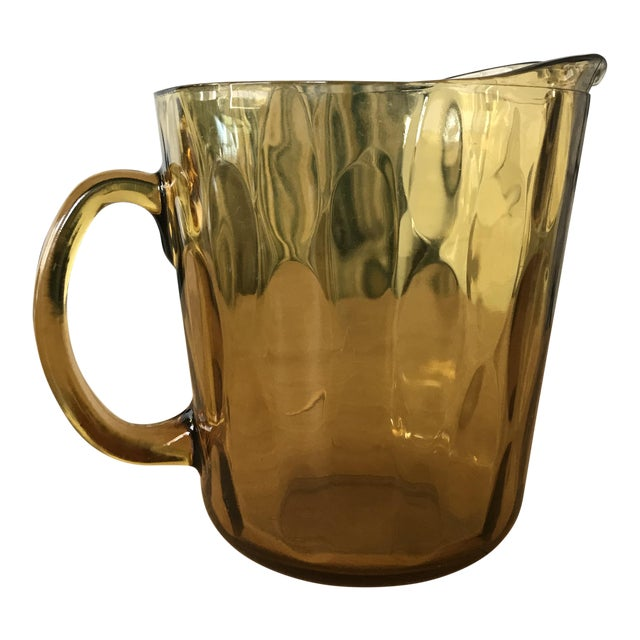 Indiana Glass Amber Glass Pitcher - Image 1 of 5