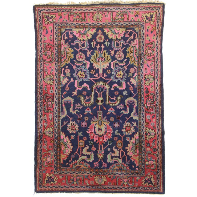 RugsinDallas Vintage Wool Turkish Sparta Oushak Rug - 5′10″ × 8′10″ - Image 1 of 2