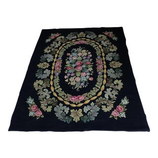 """Antique American Hooked Rug - 5'11"""" X 8'2"""" For Sale"""