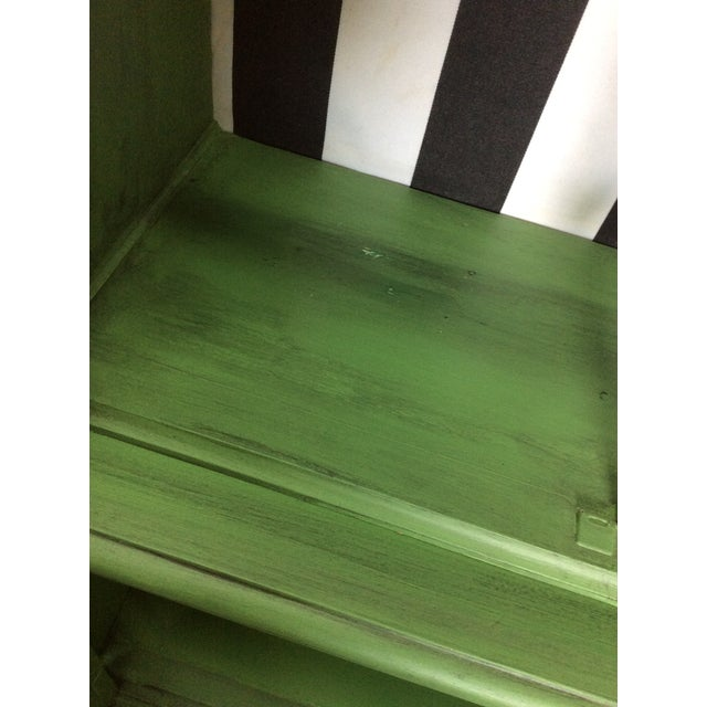 20th Century Chinoiserie Emerald Green Hutch For Sale - Image 9 of 13