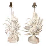 Image of 20th Century Italian Tole Table Lamps - a Pair