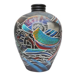 Vintage Native American Pottery Terra Cotta Vase