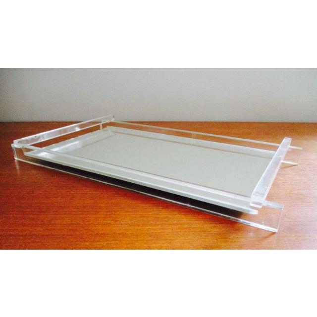 Art Deco Lucite & Mirrored Vanity Tray - Image 6 of 7
