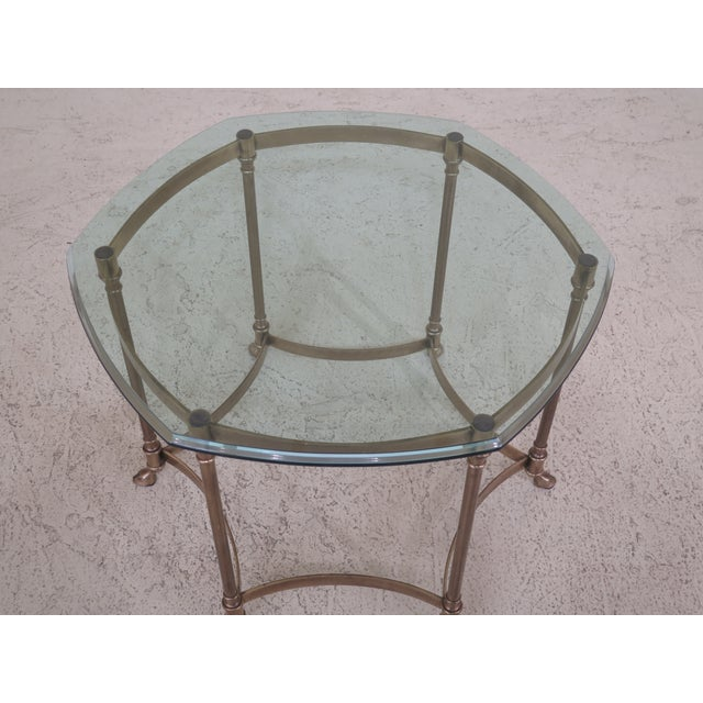 Approx: 25 Years Old Details: Beveled Glass Top High Quality Construction Un-Marked As To Manufacture Offered @ Fraction...