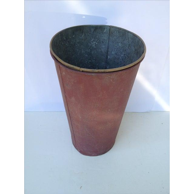 Vintage Painted Sap Bucket - Image 4 of 9
