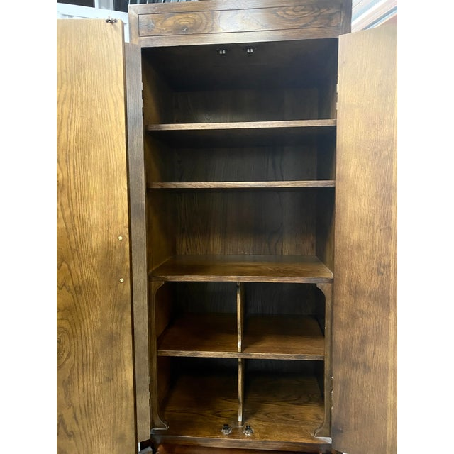 1970s Vintage Henredon Campaign Chifforobe- a Pair For Sale - Image 5 of 11