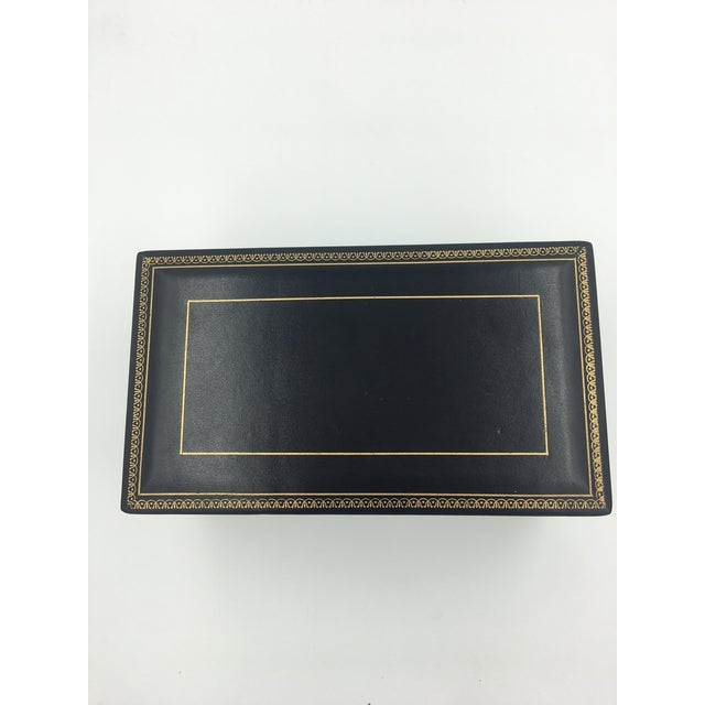 Black Leather Embossed Humidor For Sale In New York - Image 6 of 8