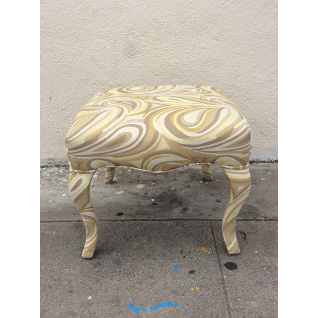 Upholstered Funky Stool For Sale - Image 4 of 5