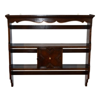 Late 19th C English Wall Shelf For Sale