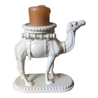 Fitz and Floyd Vintage Ceramic Camel Centerpiece/Candle Holder For Sale