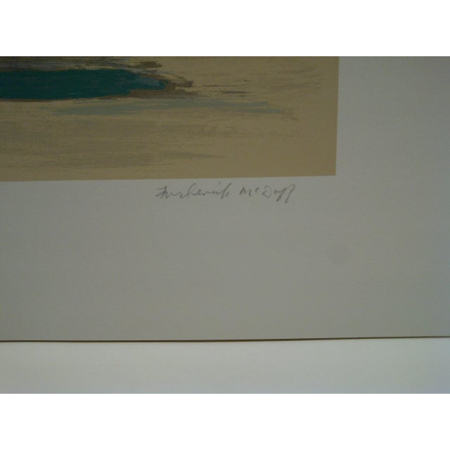 """Paper Frederick McDuff Limited Edition """"Emerald Coast"""" Artists Proof Print For Sale - Image 7 of 8"""