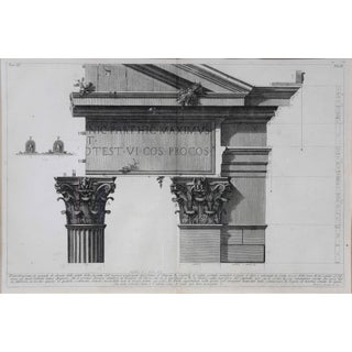Framed Engraving of a Corinthian Column and Architrave by Francisco Piranesi Preview