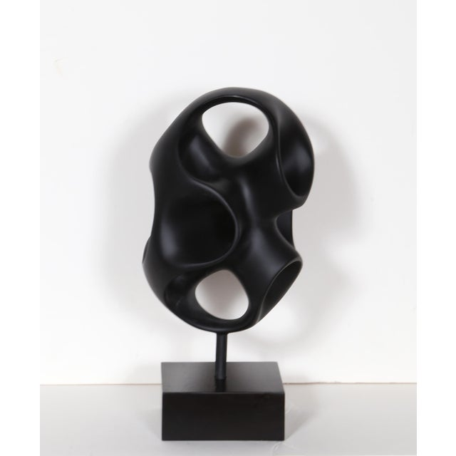 Black Abstract Modern Sculpture For Sale - Image 5 of 5