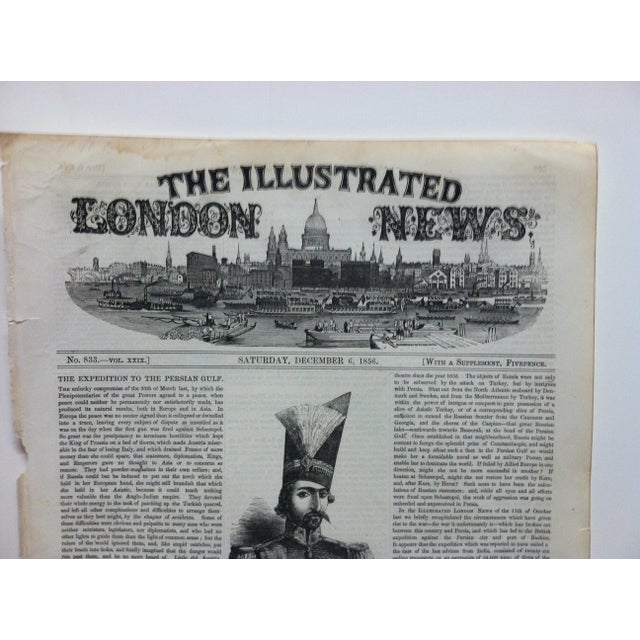 """This is an Antique Original Print from The Illustrated London News that is titled """"Bushire on the Persian Gulf """" and is..."""
