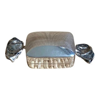 Late 20th Century Sterling Silver Bon Bon Candy Pill Box For Sale