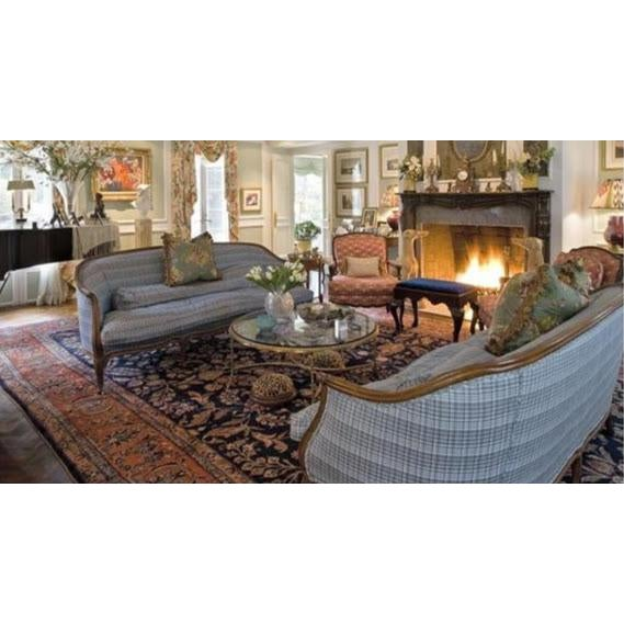 Vintage French Louis XV Style Wood Frame Sofa by Meyer Gunther Martini - Image 3 of 11
