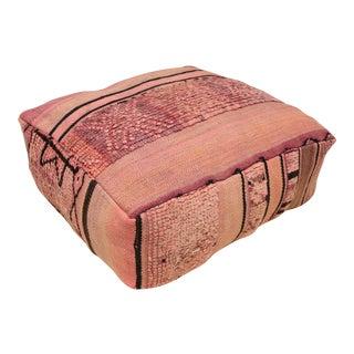 Vintage Floor Cushion Pouf Cover For Sale