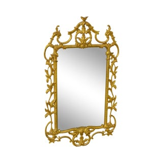 Carvers Guild Carved Gilt Wood Rococo Style Wall Mirror
