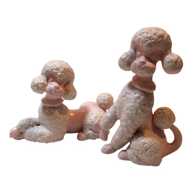 Mid Century Spaghetti Poodle Figurines - a Pair For Sale
