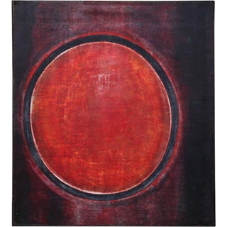 1960s Vintage De Forest Riblley Abstract Painting For Sale