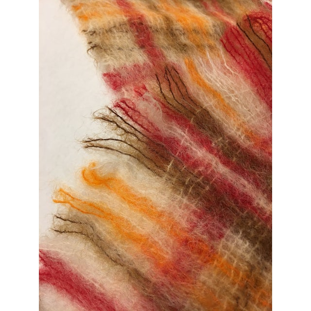 Boho Chic Vintage Mohair Scottish Throw For Sale - Image 3 of 5