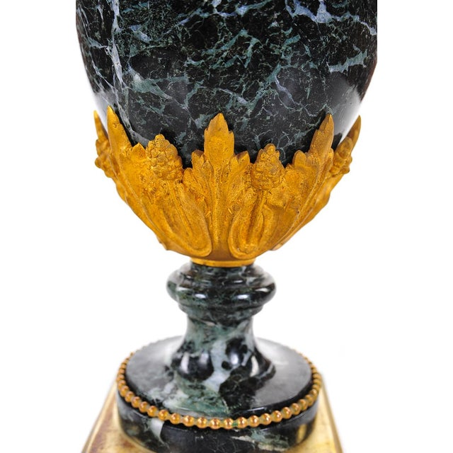19th C. French Marble Gilt Urns - A Pair For Sale In Los Angeles - Image 6 of 9