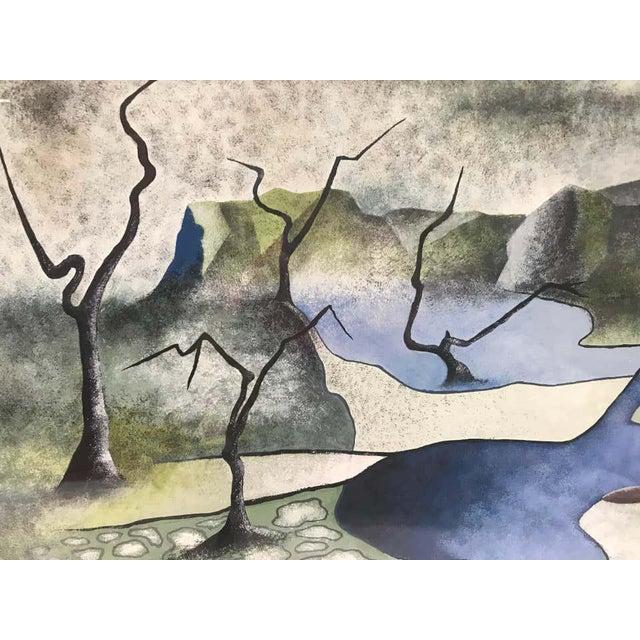 Surrealist Landscape Signed Rothbart For Sale - Image 4 of 8