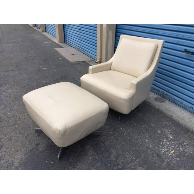 Contemporary Contemporary Barbara Barry & HBF Scoop Lounge Chair & Ottoman - a Pair For Sale - Image 3 of 11