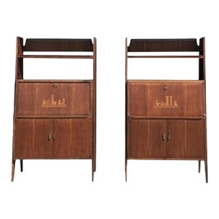 20th Century Pair of Cabinet Secretaires Writing Desks by Silvio Cavatorta For Sale
