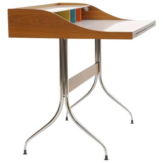 Original Production George Nelson and Associates Swaged Legged Desk For Sale