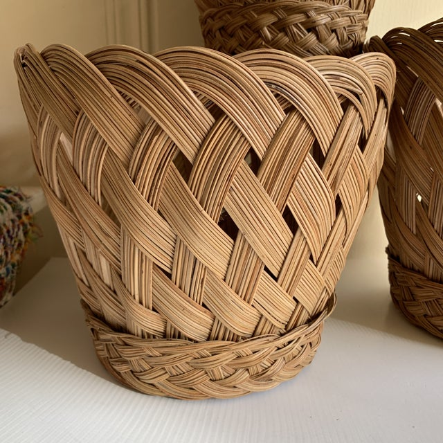 Earthy Classic Basket Vessels, Set of Three For Sale - Image 4 of 13