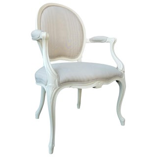 Late 18th Century Louis XV Style Painted Fauteuil For Sale