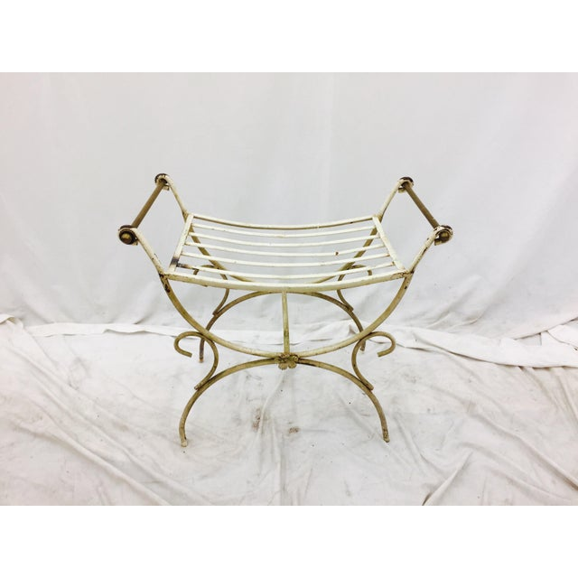 Hollywood Regency Vanity Bench For Sale - Image 4 of 4