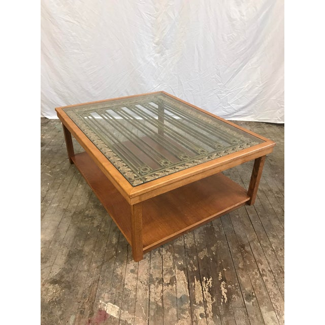 Upcycled Antique Bank Teller Cage Bars Coffee Tables For Sale - Image 9 of 9