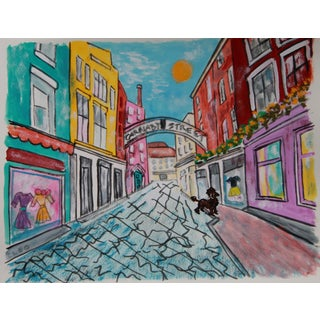 London City Landscape Carnaby Painting by Cleo For Sale