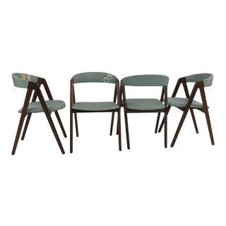 Set of 4 Danish Modern Teak Dining Chairs by Kai Kristiansen