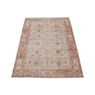 "20th Century Vintage Turkish Overdyed Distressed Wool Hand Knotted Rug - 9'9""x6'6"" For Sale"
