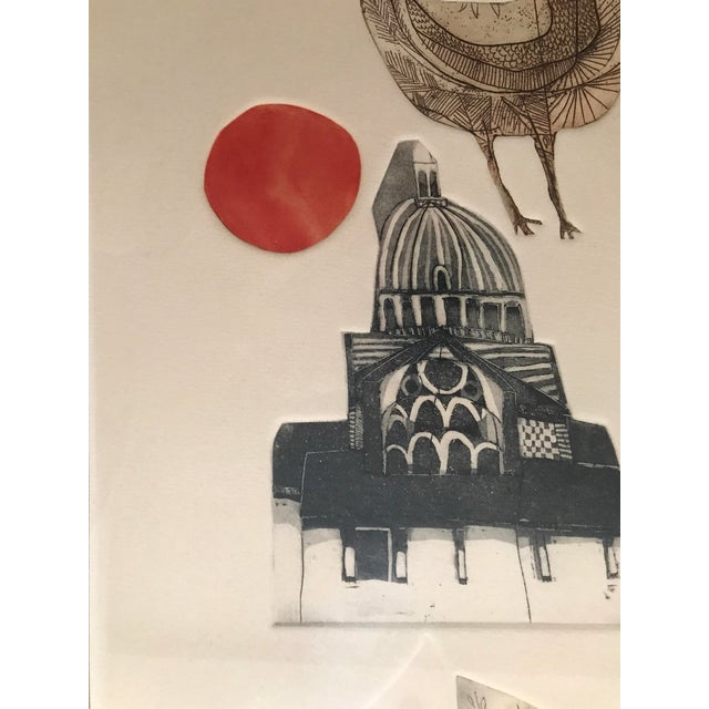 """Alec Cowan """"Cathedral"""" Block Print For Sale - Image 5 of 11"""