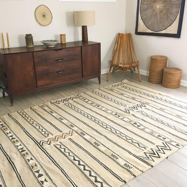 Neutral Moroccan Kilim Rug - 6′1″ × 7′8″ - Image 2 of 5