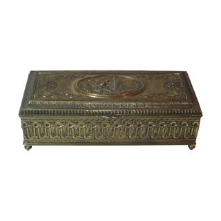 Brass Embossed Box For Sale