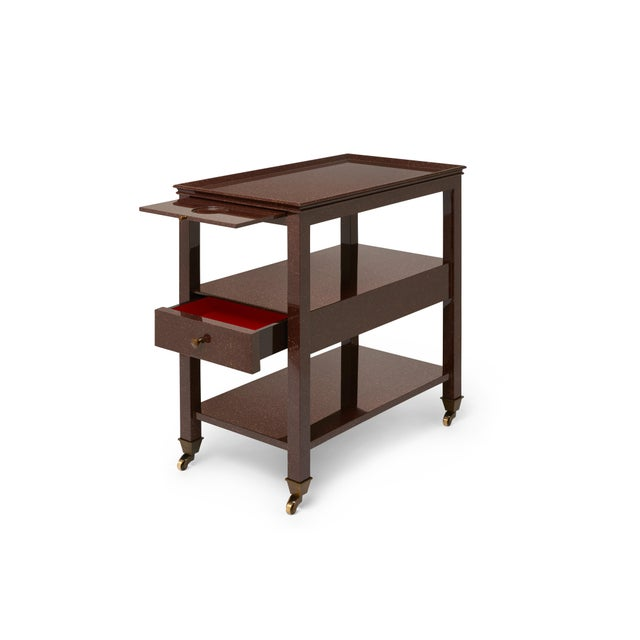 Practical Nightstand in Porphyry - Miles Redd for The Lacquer Company For Sale - Image 4 of 6