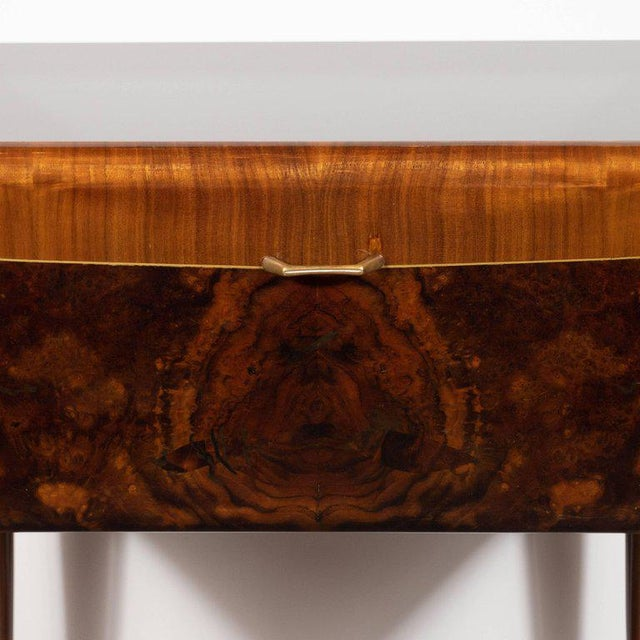Pair of Mid-Century Italian Nightstands/End Tables in Exotic Bookmatched Wood For Sale In New York - Image 6 of 12