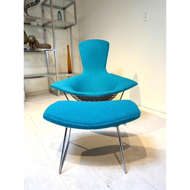 Mid-Century Modern 1950s Mid-Century Bird Chair and Ottoman Harry Bertoia for Knoll For Sale - Image 3 of 8