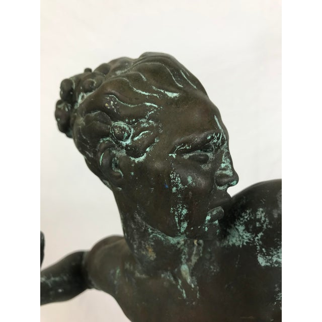 """Early 20th Century """" Diana the Huntress"""" Art Deco Bronze Sculpture For Sale - Image 5 of 9"""