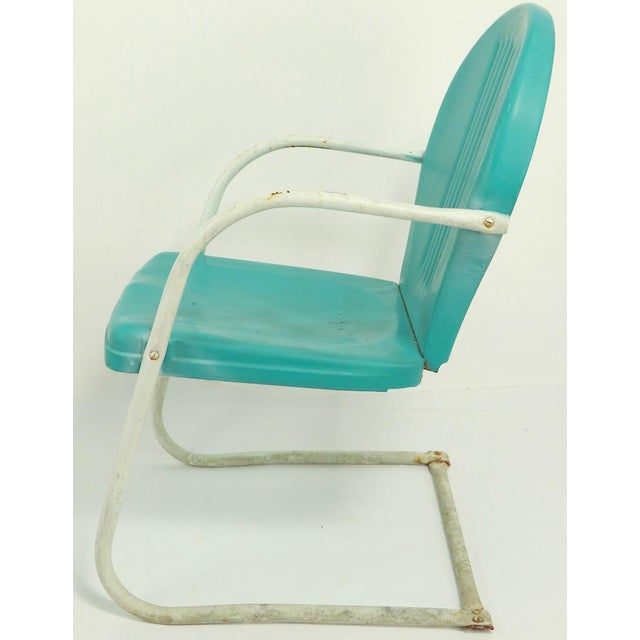 1950s Mid Century Metal Lawn Garden Patio Chairs by Shott - a Pair For Sale - Image 5 of 13