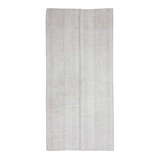 Vintage Gray Modern Turkish Kilim Rug For Sale