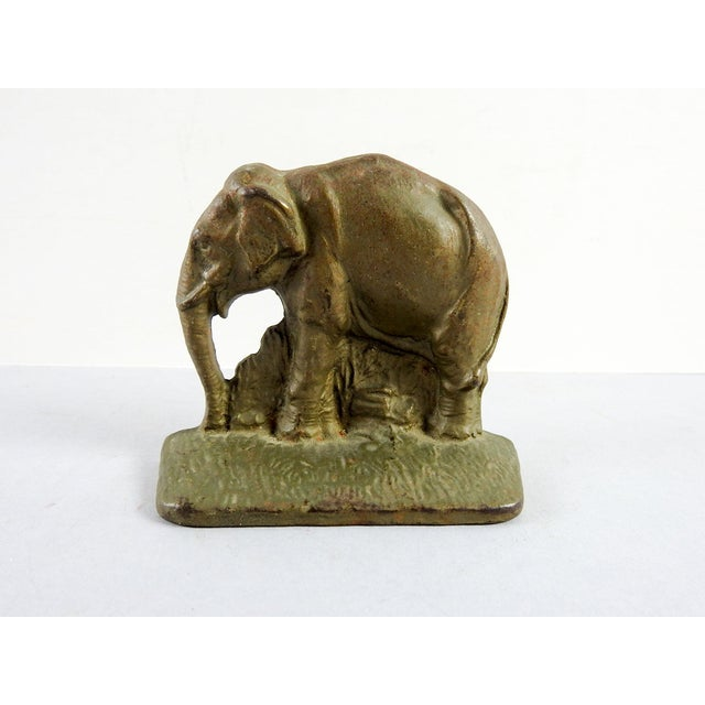 Cast Iron Vintage Elephant Bookend - Image 2 of 3