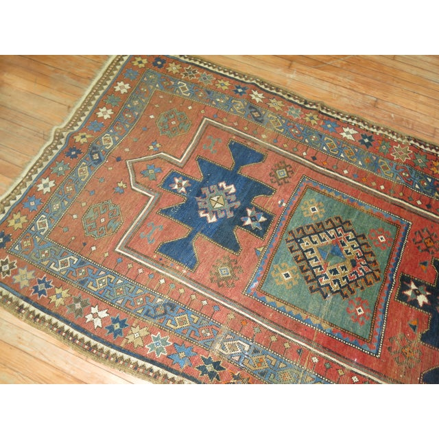Antique Caucasian Rug, 4'6'' x 8' For Sale - Image 9 of 11