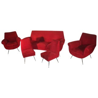 Mid-Century Modern Gigi Radice Living Room Set For Sale